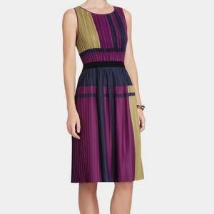 BCBG Maxazaria color block pleated dress